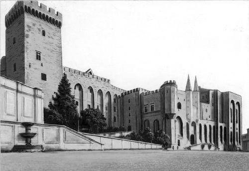 Папский дворец в Авиньоне. Авиньон.