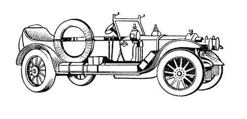 Автомобиль. «Руссо-Балт». Автомобиль.