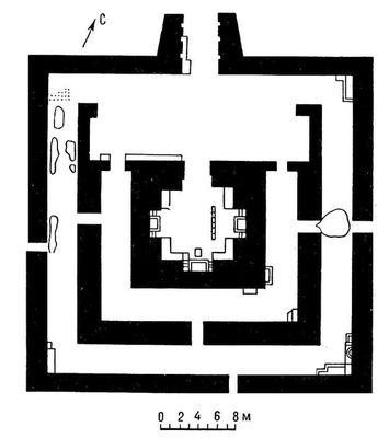 Буддийский храм в Ак-Бешиме. 6 — 7 вв. План. Ак-Бешим.