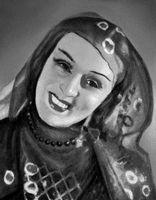 В. И. Анджапаридзе в роли Джавары («Изгнанник» Важа Пшавела). Анджапаридзе Вера Ивлиановна.