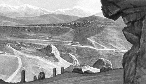 Лорийский пейзаж. Армянская Советская Социалистическая Республика.