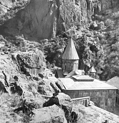 Монастырь Гегард (Айриванк). 12—13 вв. Армянская Советская Социалистическая Республика.