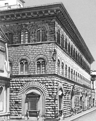 Микелоццо. Дворец Медичи-Риккарди во Флоренции. Италия. 1444—60. Архитектура.