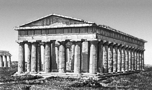 Древнегреческий; храм Посейдона в Пестуме. Италия. 5 в. до н. э. Архитектура.