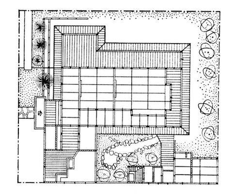 Современная зарубежная архитектура. Жилой дом в Японии, план. Архитектура.