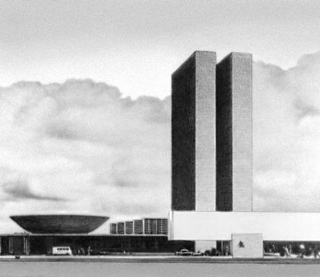 О. Нимейер. Здание Национального конгресса в г. Бразилия. Бразилия. 1960-е гг. Архитектура.