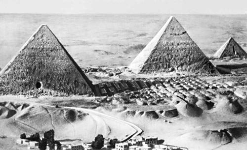 Пирамиды в Гизе. Египет, 3-е тысячелетие до н. э. Архитектура.