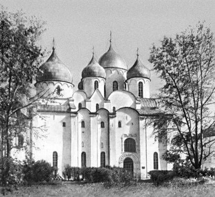 Софийский собор в Новгороде. 1045—1050. Архитектура.