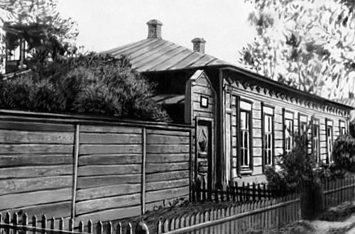 Дом в Чембаре, где провёл детство В. Г. Белинский (ныне Дом-музей). Белинский Виссарион Григорьевич.