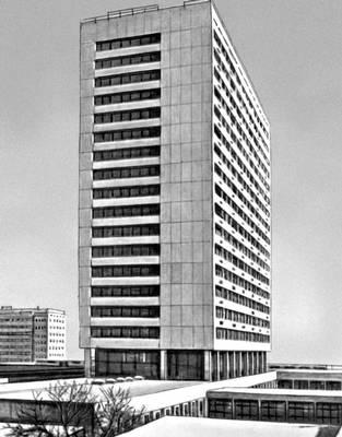 Городская больница Тримли в Цюрихе. Швейцария, 1960-е гг. Больница.