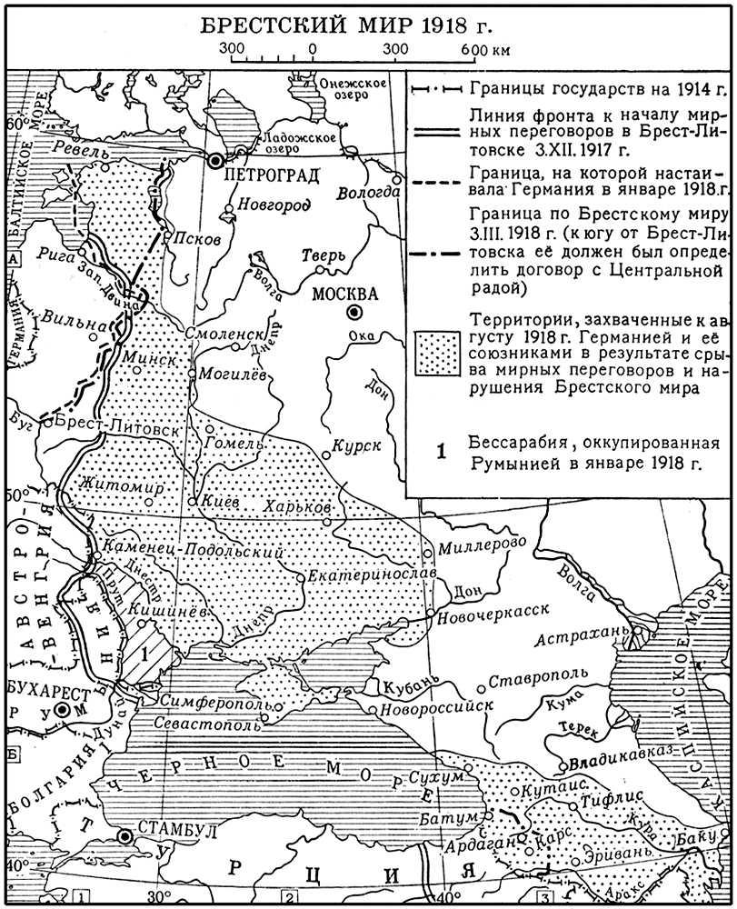 Брестский мир 1918 г. Брестский мир 1918.
