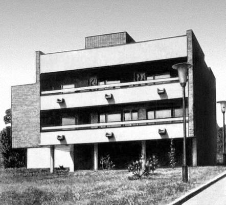 Будапешт. Жилой дом на ул. Семлехедь. 1960-е гг. Архитектор А. Киш. Будапешт.