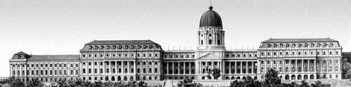 Будапешт. Восстановленный королевский дворец в Буде. 1896—1903. Архитектор А. Хаусман. Будапешт.