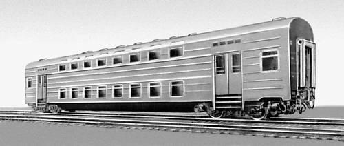 Рис. 12. Двухэтажный пассажирский вагон (ГДР). Вагон.