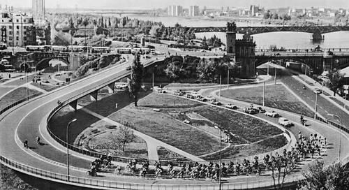 Новая эстакада у моста Понятовского. Варшава.