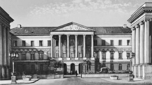 Государственная комиссия приходов и казны. 1824—25. Архитектор А. Корацци. Варшава.