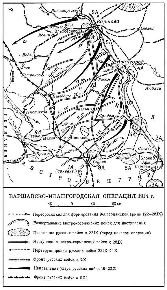 Варшавско-ивангородская операция 1914. Варшавско-ивангородская операция 1914.