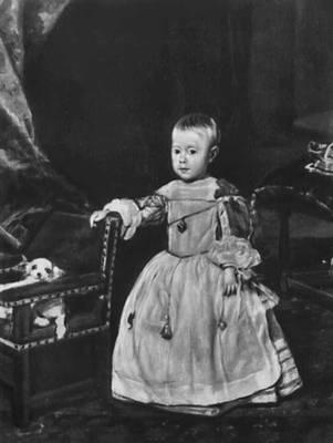 Портрет инфанта Фелипе Просперо. 1650-е гг. Художественно-исторический музей. Вена. Веласкес Диего.