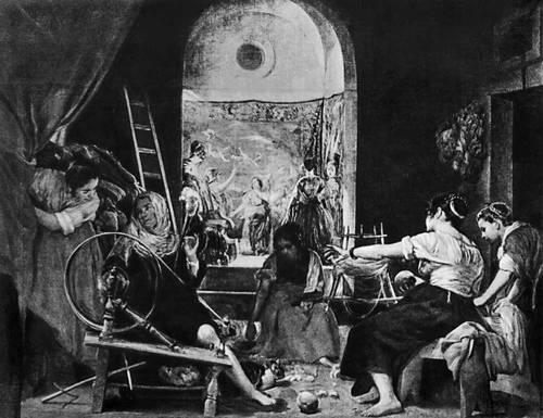 «Пряхи». 1657. Прадо. Мадрид. Веласкес Диего.