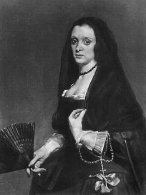 Портрет дамы с веером. Около 1648. Собрание Уоллес. Лондон. Веласкес Диего.