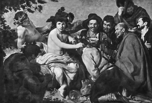 «Вакх». До 1630. Прадо. Мадрид. Веласкес Диего.