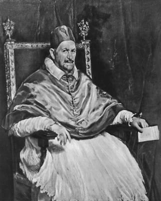 Портрет папы Иннокентия X. 1650. Галерея Дориа-Памфили. Рим. Веласкес Диего.