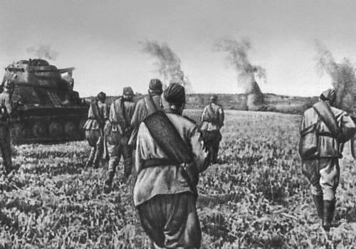 Атака 5-го Гвардейского танкового корпуса Воронежского фронта. Август 1943. Великая Отечественная война Советского Союза 1941-45.