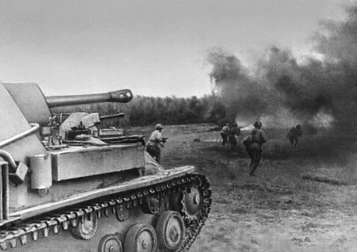 Бой на Курской дуге. Июль 1943. Великая Отечественная война Советского Союза 1941-45.