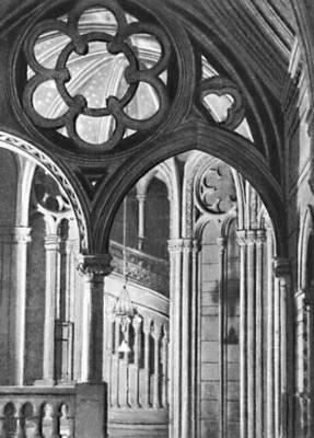 А. Уотерхаус. Лестница ратуши в Манчестере. 1868—1877. Великобритания (государство).