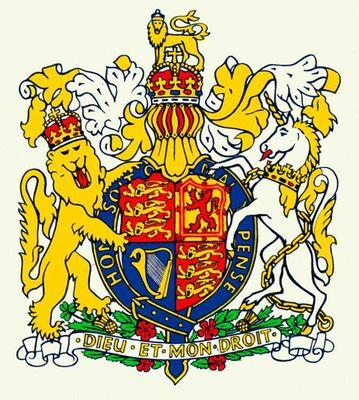 Государственный герб Великобритании. Великобритания (государство).