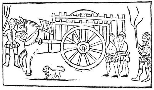 Бродяги с повозкой. Рис. 17 в. Великобритания (государство).
