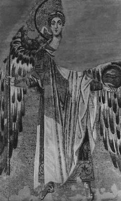 Византия. «Архангел Гавриил». Мозаика храма св. Софии в Константинополе. Конец 9 в. Византия.