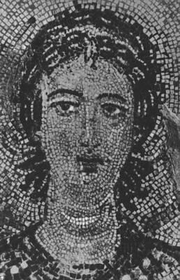 Византия. Голова ангела. Фрагмент мозаики церкви Успения в Никее. 7 в. Византия.