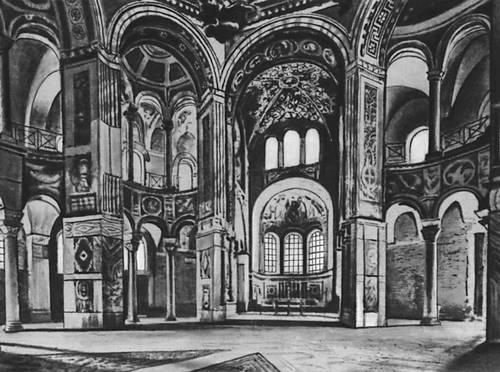Византия. Церковь Сан-Витале в Равенне. 526—547. Интерьер. Византия.