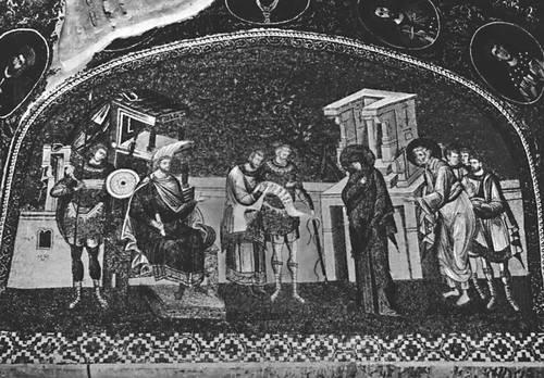 Византия. Мозаика монастыря Хора (Кахрие-Джами) в Константинополе. Нач. 14 в. Византия.