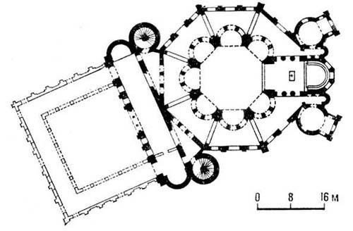 Византия. Церковь Сан-Витале в Равенне. 526—547. План. Византия.