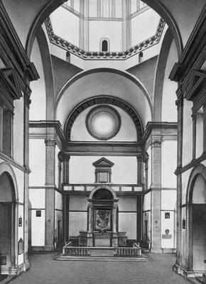 Франческо ди Джорджо Мартини. Церковь Мадонна дель Кальцинайо близ Кортоны. 1485—1513. Интерьер. Возрождение (Ренессанс).