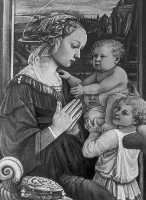 Филиппо Липпи. «Мадонна с младенцем и двумя ангелами». Ок. 1465. Галерея Уффици. Флоренция. Возрождение (Ренессанс).