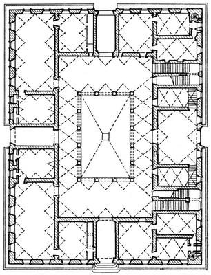 Бенедетто да Майано и Кронака. Палаццо Строцци во Флоренции. 1489—1505. План. Возрождение (Ренессанс).