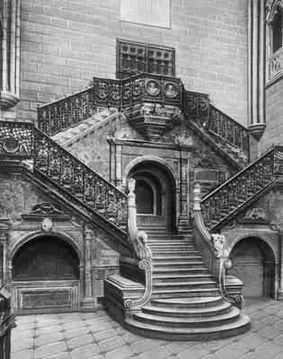 Д. Де Силоэ. «Золотая лестница» в соборе в Бургосе (Испания). 1519—23. Возрождение (Ренессанс).