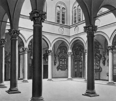 Микелоццо. Дворец Медичи-Риккарди во Флоренции. 1444—60. Внутренний двор. Возрождение (Ренессанс).