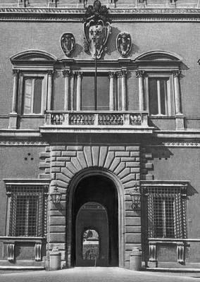 Микеланджело. Фасад Палаццо Фарнезе в Риме. После 1546. Возрождение (Ренессанс).