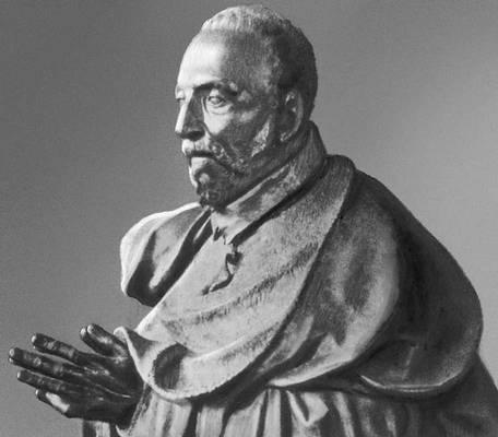 Ж. Пилон. Статуя канцлера Рене Де Бирага (фрагмент). Бронза. 1583—85. Лувр. Париж. Возрождение (Ренессанс).