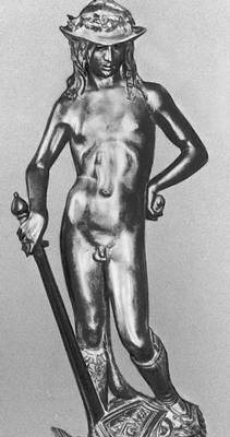 Донателло. «Давид». Бронза. 1430-е гг. Национальный музей. Флоренция. Возрождение (Ренессанс).