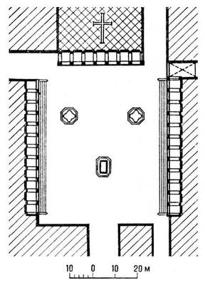 Пьяцца Сантиссима-Аннунциата во Флоренции. 15 — нач. 17 вв. План. Возрождение (Ренессанс).