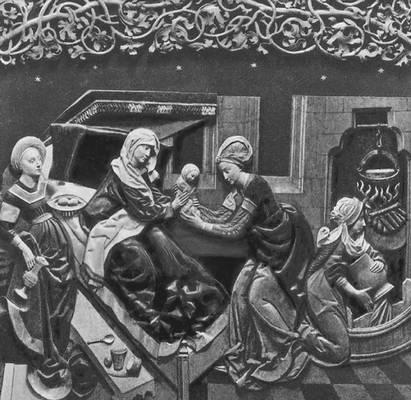 Вит Стош. Алтарь в костёле Девы Марии в Кракове (фрагмент). Дерево. 1477—89. Возрождение (Ренессанс).