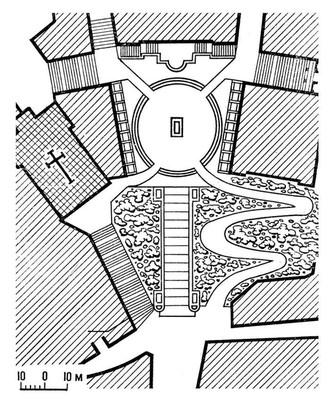 Микеланджело. Площадь Капитолия в Риме. Начата в 1546. План. Возрождение (Ренессанс).