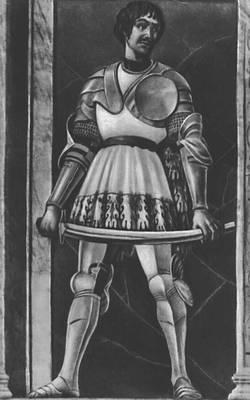 Андреа дель Кастаньо. Портрет кондотьера Пиппо Спано. Фреска. После 1450. Музей Андреа дель Кастаньо. Флоренция. Возрождение (Ренессанс).