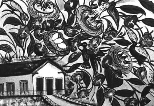 Э. Ипполит. «Загородный дом». 1940-е гг. Американо-английский художественный центр. Нью-Йорк. Гаити (Республика Гаити).
