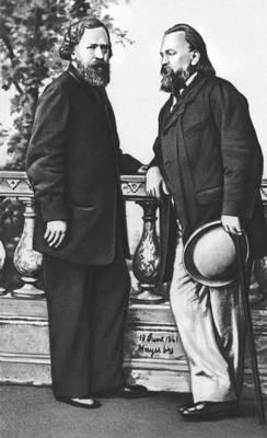 Н. П. Огарев и А. И. Герцен. 1861. Герцен Александр Иванович.